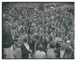 Crowd of young people at unidentified event