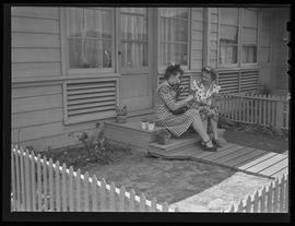 Vanport residents on porch