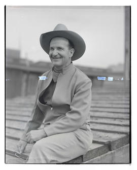 Elliott, three-quarters portrait, probably at Pacific International Livestock Exposition