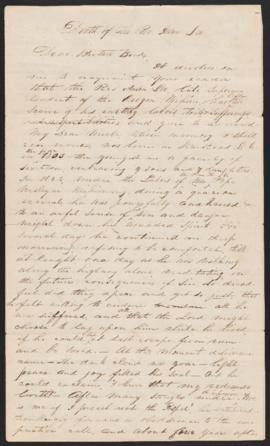 Letter from Daniel Lee to Brother Bond, 1845