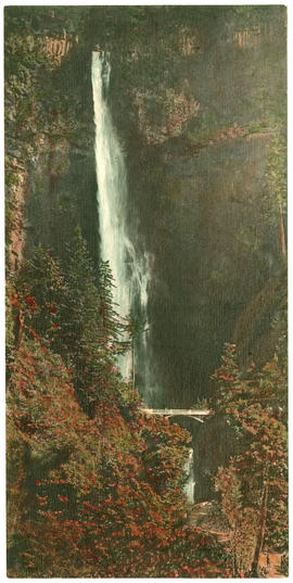 Multnomah Falls, hand colored