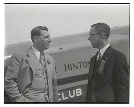 Aviator Walter Hinton? with reception committee member