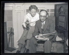 Violinist Harry Cykman and teacher Sigmund Rader