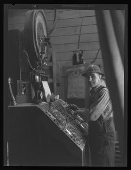 McNary Dam worker, during construction