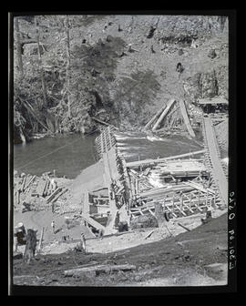 Oak Grove project, coffer dam at dam site