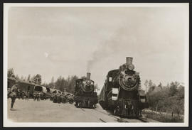 Two Locomotives at Camp Clatsop, Oregon