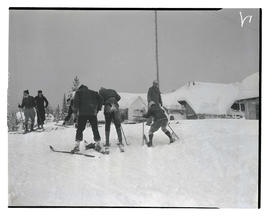 Skiers in Government Camp