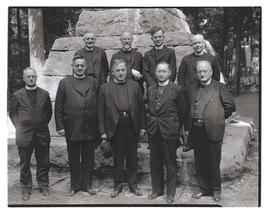 Group portrait of clergymen at The Grotto