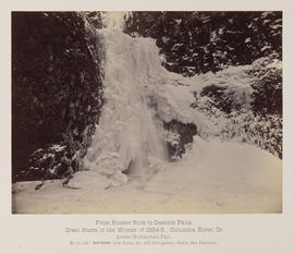"""D.126. From Rooster Rock to Oneonta Falls. Lower Multnomah Falls."""