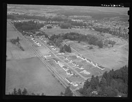 Aerial view of Broadmoor housing project in Portland area