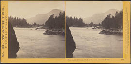 """View on the Columbia, O.R.R. Cascades, Columbia River."" (Stereograph 1300)"