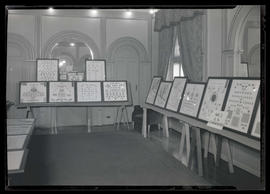 Stamp collections on display