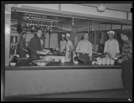 Mess hall workers at Civilian Public Service Camp #21 at Wyeth
