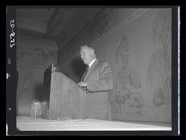 Man speaking at podium