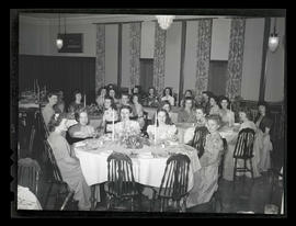 Marylhurst College students at formal meal, 1944?