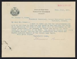 Letter from Theodore Roosevelt to George H. Himes