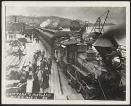 First Train to Portland from Astoria Railroad Depot