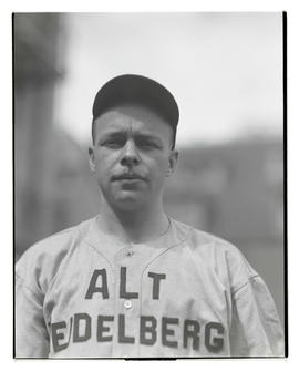 Baseball player for Alt Heidelberg