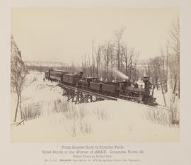 """D.113. From Rooster Rock to Oneonta Falls. Relief Train at Bridal Veil."""