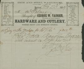 Invoice from George W. Vaughn