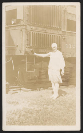 Alice Collins Christening the 1101 Train, Goldendale, Washington