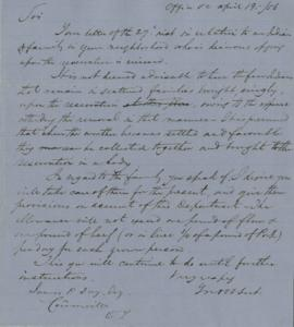 Letter to James P. Day