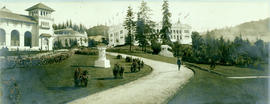 Footpath by roses, Lewis and Clark Centennial Exposition, Portland, Oregon, 1905