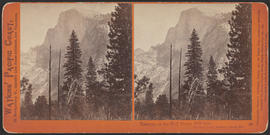 """Tasayac, or the Half Dome, 5000 feet. Yosemite Valley, Mariposa County, Cal."" (Stereograph 37)"