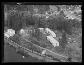 Aerial view of Lake Oswego area housing development