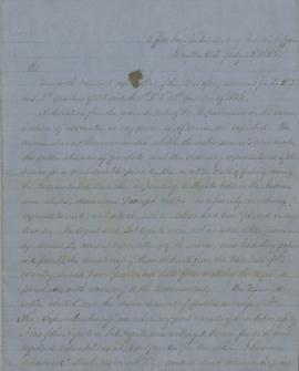 Draft letter from Joel Palmer to George Manypenny