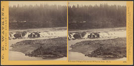 """Panorama of Oregon City and the Willamette Falls. No.5"" (Stereograph 1218)"