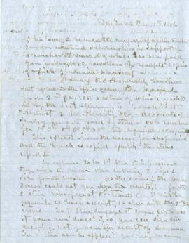 Copy of letter to Abernethy and Co.