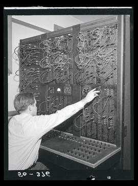 Man with switchboard