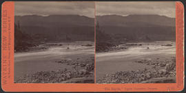 """'The Rapids,' Upper Cascades, Oregon."" (Stereograph E15)"