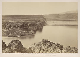 """O.43. Indian Village, from the Passage of the Dalles."""