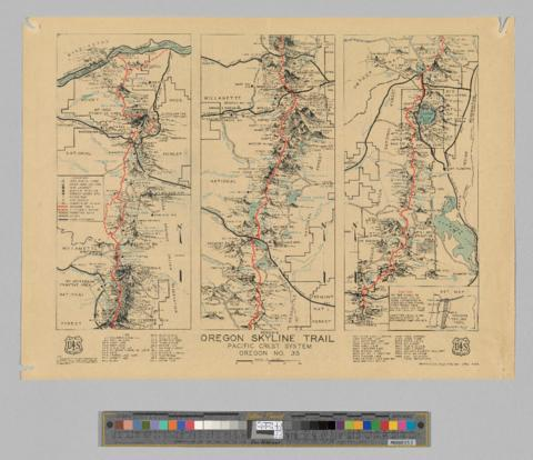 Oregon Skyline Trail : Pacific Crest system, 1936 - OHS ...