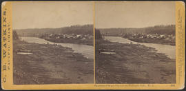 """Panorama of Oregon City and the Willamette Falls. No.1"" (Stereograph 1214)"