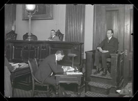 Unidentified man on the witness stand at trial