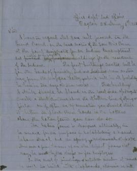 Copy of letter from Joel Palmer to Joseph Jeffers