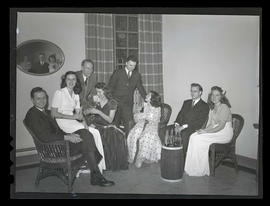 Students and their dates at Marylhurst College dance, 1944?