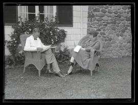 Senator Charles L. McNary and Grace C. Townsend sitting outdoors at McNary home