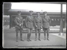 Lt. C. J. White, Lt. Col. C. D. Murray, Brigadier General W. A. White, and Col. Duff Stewart at U...