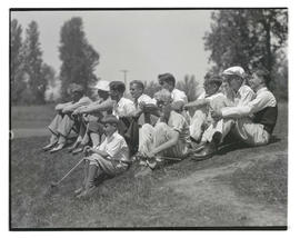 Group of boys, possibly golfers