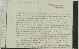 Photocopy of document dated April 16 1874 and signed by Joel and Sarah A Palmer