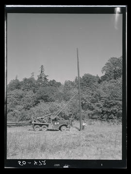 Pole truck with utility pole