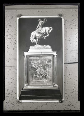 Photograph of Sam Jackson rodeo trophy