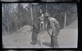 Bruce Horsfall with a bear cub