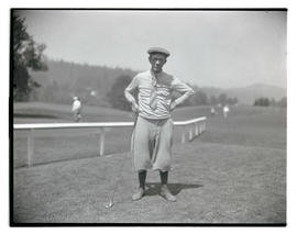 Unidentified golfer with club