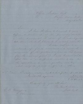Copy of Letter from George H. Ambrose to George Manypenny