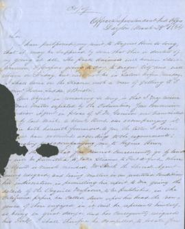 Letter to J.S. Parrish from Joel Palmer